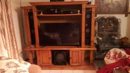Large Solid Wood Wall Unit