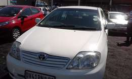 Toyota Corolla 1.4i Model 2005 Colour White 5 Door Factory A/C&CD Play