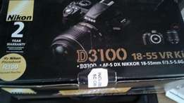 Nikon D3100 with 18 to 55 mm lence