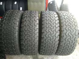 Set of 4X4 BF Goodrich All-Terrain Tyres for sell