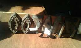 Antique iron's R250 each