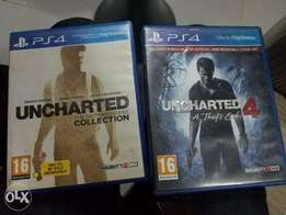 Ps4 uncharted 1 to 4 for swap with any nice game. Sms or whatsapp!!!
