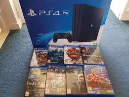 Sony PlayStation PS4 Pro 1TB plus 8 games, 12 months warranty