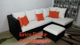 Leather P. U 5 Seater corner seat