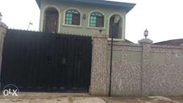 Lovely 5 wings of 2 bedroom flat all tiles floor fence at Alimosho
