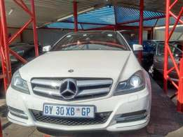 2012 mercedes Benz c180 coupe with panaromic sunroof for R199999.00 Th