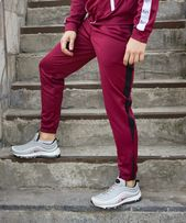 Спортивные штаны с лампасами ТУР Rocky (бордо брюки мужские полосой) 203a7a7d86405