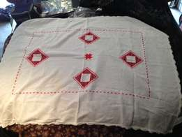 1m x 1m Hand Made Table Cloth - Good Condition