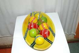 A 12-inch yellow themed oval table decor