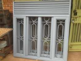 Steel slide windows