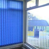 Vertical blinds and painting