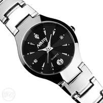 NARY Women's Calender Stainless Steel Watch