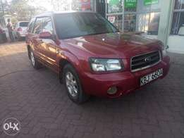 Subaru forester accident free asking 590,000/-