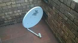 DStv dish with lnb and wall bracket