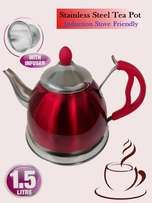 Tea pot with infuser. Also works on induction stove