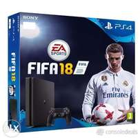 Brand New Playstation 4 plus 1 year warranty and FIFA 18 for 33,999
