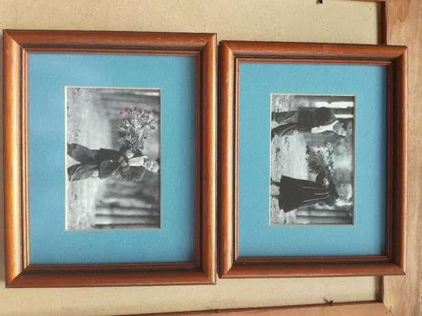 Frame With Glass & Classic Boy And Girl Pictures With Blue Background Kempton Park - image 4