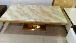 Imported marble top center table with 2side stools
