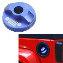 Jeep JK cap covers Aluminium Blue