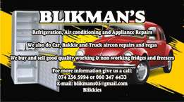 Appliance repairs and regas