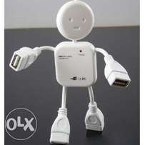 Robot Man Shape USB 2.0 Hubs For PC & Laptop