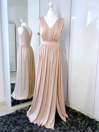 1b63ffe9a9 Suknia wieczorowa Parisse gwiezdny pył długa maxi XS - S jak nowa Skawina -  image 4