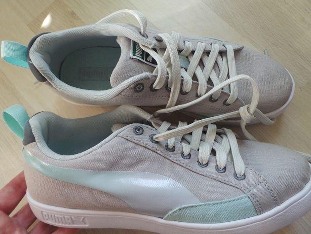 52fb6116de317 PUMA buty damskie sportowe r 40 MIĘTOWE Beżowo-białe tenisówki trampki  Kolbudy - image 2