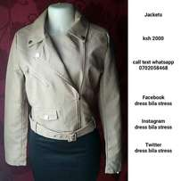 Ladies Leather jacket with a belt