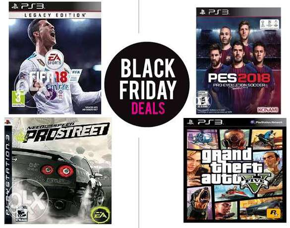 Black Friday Deals 4 New 2018 Games For only 10k (fifa18,pes18,nfs,gta Wuse - image 1