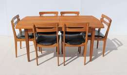 7 Piece Midcentury Vintage Retro Extendable Dining Room Suite