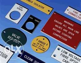 Water proof labels and stickers any shape any size.