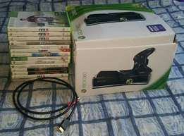 Xbox 360. 2 controllers. 14 games . Hdmi cable + plug and play