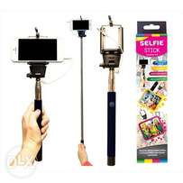 Selfie Stick With Plug in Lead Plus Press Button