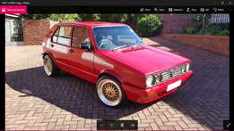 Red Roaring Beast: VW Golf 1.6i (not carb)