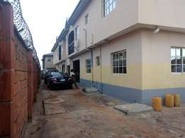 Clean Renovated Mini flat all tiles floor fenced gate water at Baruwa