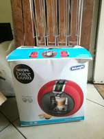 Nescafe Dolce Gusto and capsule packs and capsule rack.