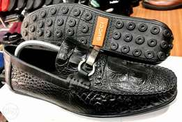 Crocodile Pattern Loafers by Gucci