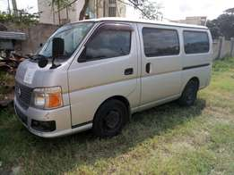 Nissan caravan Auto petrol. KCM number 2010 model Bank finance n hi