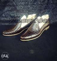 patent skin chocolate loafers