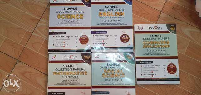 Class 10 cbse sample question papers 2021 set of 5 books for 30 QAR