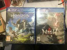 The latest ps4 playstation 4 games. Nioh and horizon new sold separate