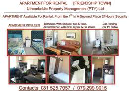 Apartment/rooms for rental in a secured place with 24hrs security