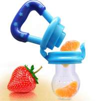 Baby pacifier fruit feeder and teether