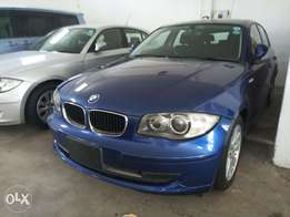 Blue 2010 BMW 116i kcp number