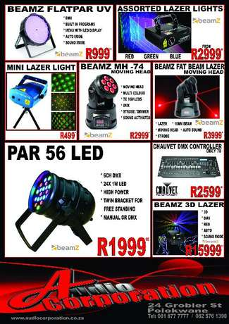 Audio Corp: DJ & Pulic Address System Lights Polokwane - image 1