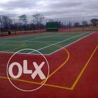 Netball pitch and Tennis courts