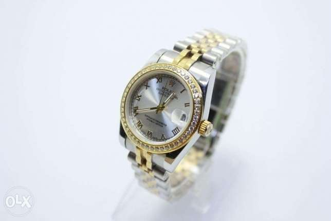 Datejust Half Gold For women ساعة حريمي