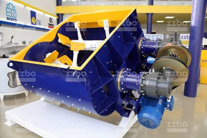 ZZBO Twin-shaft Concrete Mixer Bp-2g-1500 / Смеситель - 2019