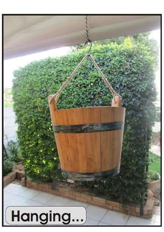 wooden water bucket Northcliff - image 3