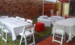 wimbledon chairs,tiffany,plastic chairs,tables,linen,stretch tents
